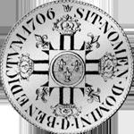 1706 Blanc Ecu Silber Münze Rückseite