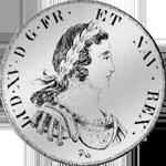 Ecu Blanc Silber Münze 1725