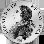 1791 Silber Münze Neu Taler Laub Halber Rückseite