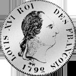 30 Sols 1 1/2 Livre Stück Silber Münze 1792