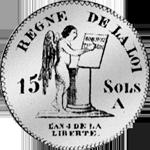 1732 Münze Rückseite Sols Silber 15