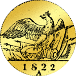Rückseite Einfacher Friedrichsdór 1822 A Gold Münze