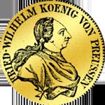Gold Münze Friedrichsdór (einfacher) 1796