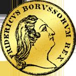 Front 1/2 Friedrichsdór Gold von 1752 Münze