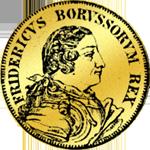 Gold 1/2 Friedrichsdór 1749 Münze