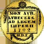 1792 Münze Gold Dukaten Rückseite