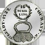 1732 Silber Münze Mark Stück Schilling 16 1