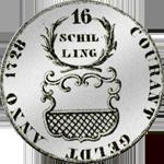 1728 Schilling 16 Mark Stück Silber Münze 1