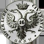 1728 Münze Silber Mark Stück Schilling 16 1