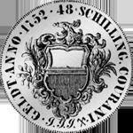 1752 Kurant Mark Taler Silber Münze 3