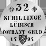 1797 Münze Mark Stück Silber 2
