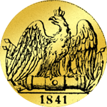 Gold Rückseite Doppelter Friedrichsdór 1841 Münze