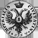 1729 Stück Silber Münze Mark 1/2