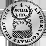 1/4 Mark Stück Silber Münze Schilling 4 1728