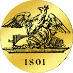 Rückseite Doppel. Friedrichsdór 1801 Gold Münze