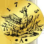 Rückseite Friedrichsdór (doppelt) 1775 Goldmünze