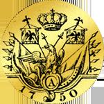Gold Rückseite Doppelter Friedrichdór 1750 Münze