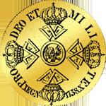 Rückseite: 1738 Doppelter Friedrichsdór Gold Münze