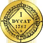 I Dukat von 1787 Gold Münze