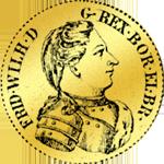 Dukat von 1732 Gold Münze