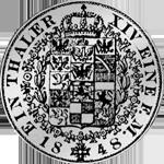 Rückseite Kurant-Taler 1848 Silber Münze