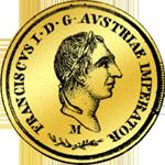 Mezzo Sovrano Gold Münze 1831