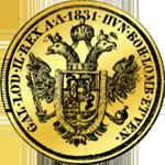 1831 Gold Münze Mezzo Sovrano