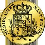 1781 Pistole Doppia Gold Münze