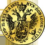 1822 Ducaten Münze Gold