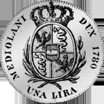 1780 Lira Nuova Münze Silber