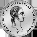 1824 Silber Münze Neuer Scudo 6 Lire Austriace