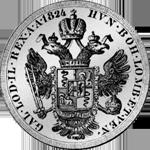 1824 Silber Münze Neuer Scudo Lire Austriace
