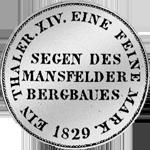 Rückseite Mansfelder Kurant-Taler 1829 Silber Münze