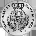 1785 Silber Münze Scudo alte Lire
