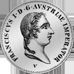 1825 Mezzo Scudo Silber Münze