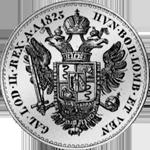 Scudo Silber Münze Mezzo 1825