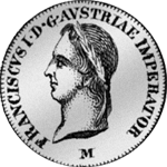 Silber Münze Halbe Lira Austriaca 1823