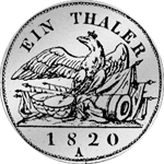 Rückseite Kurant-Taler 1820 Silber Münze