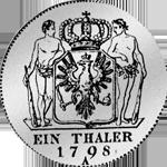 Rückseite Kurant Taler 1798 Silber Münze