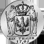 Rückseite Kurant Taler 1795 Silber Münze