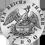Rückseite Reichstaler 1790 Silber Münze