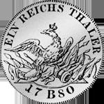 Kurant oder Reichs Taler 1780 Silber Münze