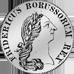 1/2 Reichs oder Kurant Taler 1766 Silber Münze