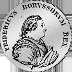 1/4 Reichs oder Kurant Taler von 1750 Silber Münze