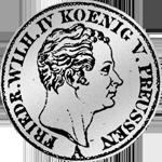 1/6 Reichs oder Kurant Taler 1842 Silber Münze