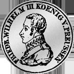 1/6 Kurant oder Reichs Taler Silber Münze 1818