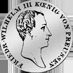 1/6 Silbermünze Kurant Taler 1816 Silber Münze