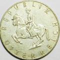 5 Schilling Silbermünze 1961 Österreich