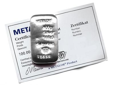 Metalor Silberbarren