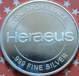 Heraeus stellt auch Silbermünzen her
